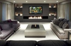 awesome 42 Modern Living Room Wall Units Ideas With Storage Inspiration