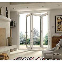 Off Folding & Sliding Doors Barn Conversion Interiors, Folding Patio Doors, French Doors Patio, Beautiful Home Designs, House Doors, Home Upgrades, Outdoor Rooms, Indoor Outdoor, Inspired Homes