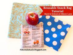 Reusable Snack Bag Tutorial: Back to School At Ellison Lane