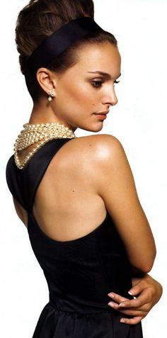 Natalie Portman ♥Just like Audrey Hepburn in Breakfast at Tiffany