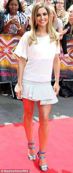 Light vs dark: Cheryl Cole and Mel B arrive for the first X Factor auditions in super short skirts