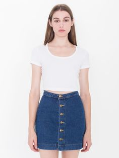 Barbara Belted Denim Mini Skirt | More Denim mini skirt, Denim ...