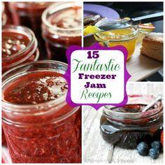 food recipes, 15 fantast, freezer jams, freezer jam recipes, fantast freezer