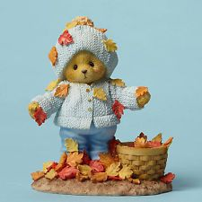 Cherished Teddies Autumn Fall Abner Playing With Leaves New 2015 4049730