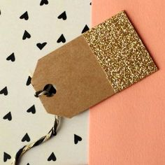 Mini Tags GlitterDipped Kraft Tags by HooplaLove on Etsy, $25.00