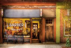 Hair Photograph - Barber - Towne Barber Shop by Mike Savad
