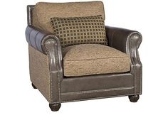 King Hickory Julianna Chair Size: 41 in. W x 45 in. D x 37 in. Rustic Living Room Furniture, Brown Furniture, Fine Furniture, Interior Design Living Room, Hickory Chair, Entertainment Furniture, Paint Colors For Living Room, Chair Fabric, Furniture Arrangement