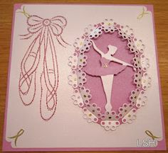 ballet card made for a special little girl