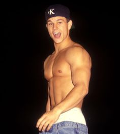 Shirtless Hot Guys: Mark Wahlberg was king of Calvin Klein underwear back in the '90s as Marky Mark.