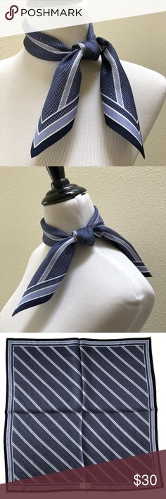 "Audrey Talbott Silk Scarf AMR American Airlines Audrey Talbott 100% Silk Scarf for AMR American Airlines Blue Chevron 24x24 NEW * Audrey Talbott Scarf Exclusively for AMR * Color : Navy Blue * Size : approx. 24"" x 24"" * Material : 100% Silk * Condition : NEW  *****   THANK YOU!!!   ***** Audrey Talbott Accessories Scarves & Wraps"