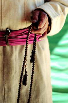 Buddhist Rosary  A #mala (threngwa) is a set of beads commonly used by Hindus and Buddhists, usually made from 108 beads. Malas are used for keeping count while reciting, chanting, or mentally repeating a mantra or the name or names of a deity.    In Tibetan Buddhism, traditionally malas of 108 beads are used. Malas are mainly used to count mantras.