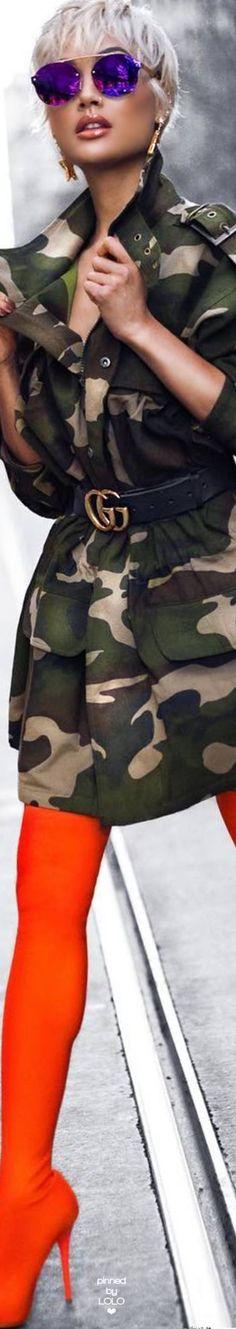 Micah Gianneli Street Chic Camo Military Inspired Fashion e12f9606bdb