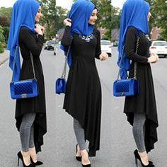 Advertisement l Advertising l advertising 💙 ————– € … – Hijab Fashion Modern Hijab Fashion, Islamic Fashion, Abaya Fashion, Muslim Fashion, Modest Fashion, Hijab Outfit, Hijab Style Dress, Hijab Chic, Stylish Dresses