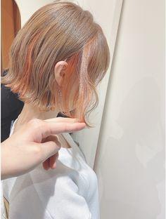 Pastel Hair, Pink Hair, Blue Hair, Cute Hair Colors, Pretty Hair Color, Asian Short Hair, Girl Short Hair, Hair Dyed Underneath, Peekaboo Hair