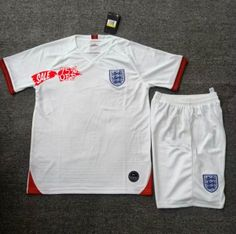 448a8e2dd16 2019 Cheap Youth Kit England Home Replica Soccer Kids Suit 2019 Cheap Youth Kit  England Home