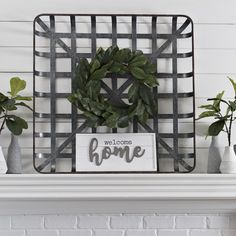 A tobacco basket looks good on its own, but a little flair can give it a whole new feel! Layer it with a wall plaque, canvas, or wreath to give it a custom look so your farmhouse always looks fresh.