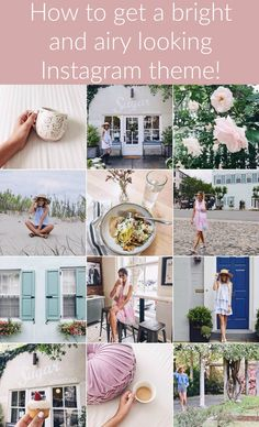 How to edit Instagram photos for a bright, feminine theme.