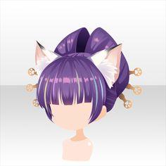 Kawaii Chibi, Anime Chibi, Base Anime, Anime Girl Hairstyles, Chibi Hair, Pelo Anime, Manga Hair, Cocoppa Play, Character Design Animation