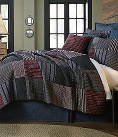 Cremieux Spencer Diamond-Embroidered Striped Patchwork Quilt Mini Set