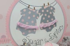 Pink Tutu Twin Baby Shower, sugar and spice