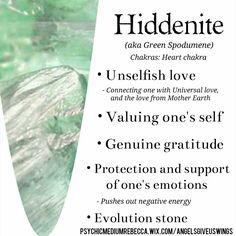 Hiddenite crystal meaning