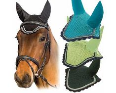 This fly veil features elastic ears and is designed to keep horses comfortable and protected. Tack Trunk, Horse Fly, Saddle Pads, Cotton Crochet, Perfect Fit, Trunks, Horses, Veils, Elegant