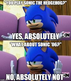 He doesn't play Sonic the Hedgehog 2006 but he does play himself