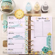 like this layout, but swap shopping list to other side so can be removed to use with last week's info on back