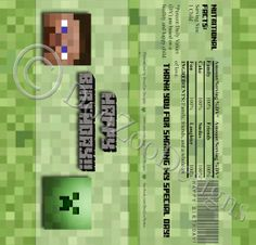 Printable Minecraft Creeper Candy Bar Wrapper Hershey