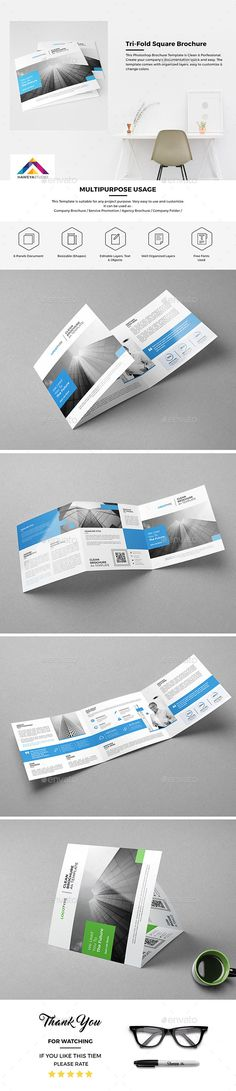 Tri-Fold Square Brochure 01  #abstract brochure #advertise #bi-fold brochure • Available here → http://graphicriver.net/item/trifold-square-brochure-01/15468673?s_rank=145&ref=pxcr