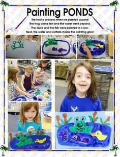 we painted our own ponds Easter Plants, First They Came, Ponds, Extensions, Insects, Kindergarten, Literature, Spring, Fun