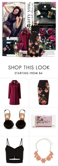 """I say let's own who we are and use it as a strength."" by perplexidadesilencio ❤ liked on Polyvore featuring Jacques Vert, Royal Worcester, Aquazzura, Racil, Dorothy Perkins, floral, floralprint, pencilskirt, magenta and galgadot"