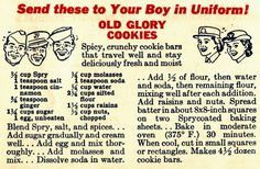 "Old Glory Cookies (""Spry was a competitor of Crisco. That is, white solid vegetable shortening (or maybe a combination of vegetable and animal shortening."")"
