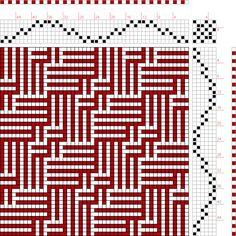 draft image: Figure 117 (c), A Manual of Weave Construction, Ivo Kastanek, 6S, 6T