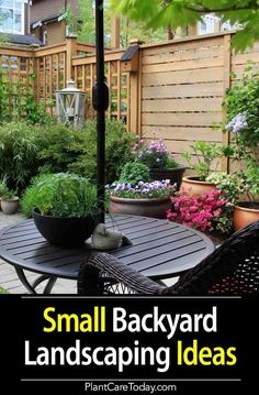 Backyard landscaping ideas for small yards, well-arranged, decorated, can be an artistic gem. Backyard garden design need not cost a fortune [LEARN MORE] Backyard Garden Design, Small Garden Design, Backyard Patio, Backyard Projects, Modern Backyard, Terrace Garden, Small Yard Landscaping, Backyard Ideas For Small Yards, Landscaping Ideas
