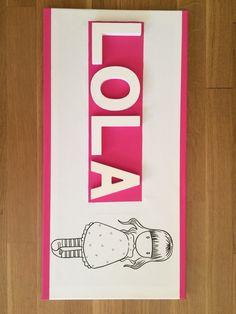 Lienzo letras Lola