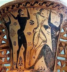 Ulises cegando cíclope Polifemo. Ls cultura micénica nos la describe Homero en poemas épicos la Ilíada y la Odisea, estos revelan ciertos estadios de la vida y manera de pensar de los griegos.