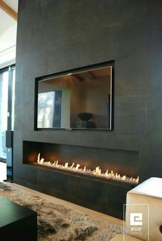 Small Living Room Design with Fireplace. Small Living Room Design with Fireplace. 20 Living Room with Fireplace that Will Warm You All Winter Fireplace Tv Wall, Linear Fireplace, Living Room With Fireplace, Fireplace Design, Fireplace Ideas, Fireplace Glass, Basement Fireplace, Fireplace Feature Wall, Fireplace Mantels
