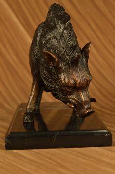 Boar Bronze Sculpture by Barye