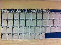 "This was a sub plan.  My students made a ""Facebook"" page on JS Bach.  They read two biography pages about him and filled out a FB page.  Work was displayed in the hall.  I found the template on freeology.com."