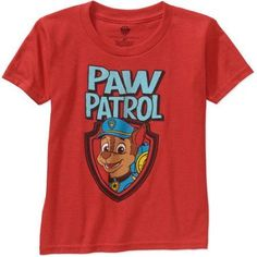 huge selection of e797b 4130a Nickelodeon Paw Patrol Toddler Boy Short Sleeve Graphic Tshirt, Size  4  Years, Red