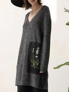 Embroidery Wool Sweater