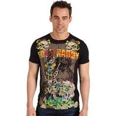 "ED HARDY חולצה דגם ""בודהה"""