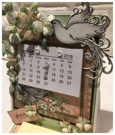 Scrappiness: Easel Card med kalender