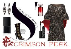 """Indulge Your Dark Side with Crimson Peak : Contest Entry"" by chantelleporter on Polyvore featuring Lattori, Givenchy, NARS Cosmetics, Lancôme and vintage"
