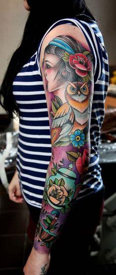 20 idées de tatouage de bras pour femme - Tattoo LifeStyle