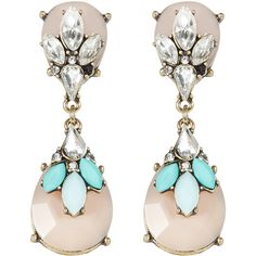 Accessorize Paradise 3D Layered Chandelier Earrings ($14) ❤ liked on Polyvore