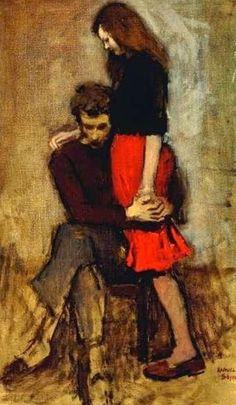 ~ Raphael Soyer ~ Russian-born American artist, 1899-1987: Consolation