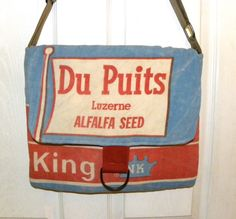Northrup King 1960's  alfalfa seed sack upcycled by LoriesBags