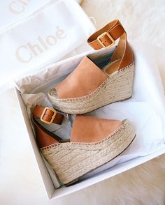 obsessed with these Chloe espadrille wedges